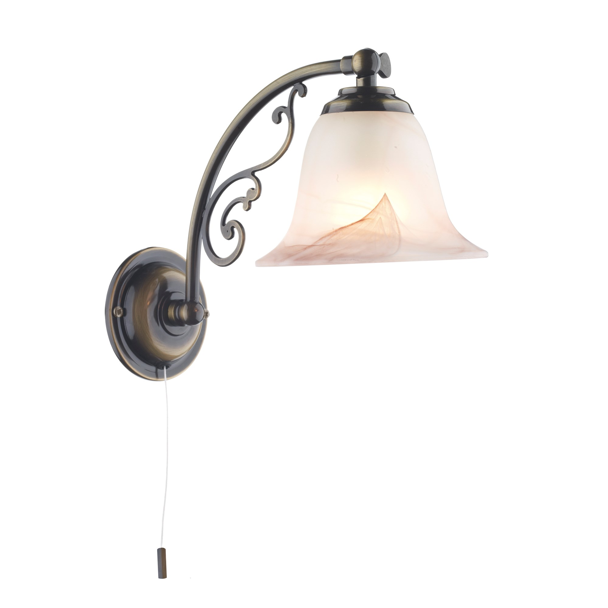 Mistley With Decorative Up Down Wall Light Pull Cord Ant Bra